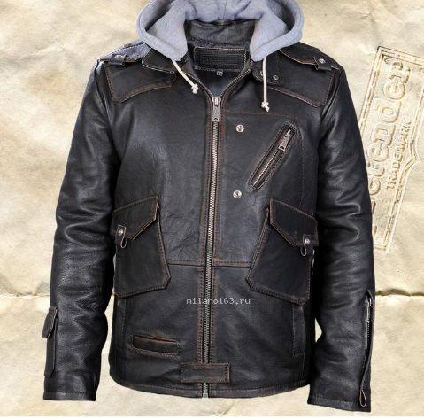 fc1e43faf1a0 Купить Кожаная куртка Eclipse черная из кожи буйвола в Москве - Я Покупаю
